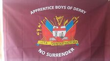 ABOD HOUSE FLAG apprentice boys of derry loyalist ulster no surrender 5 x 3