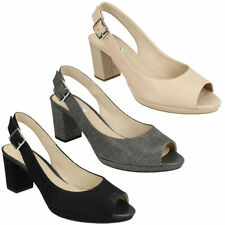 Clarks Block Heel Slingbacks for Women