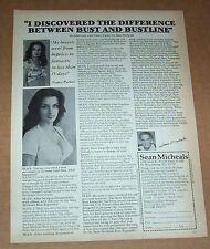 1978 print ad page -Sean Micheals Bust developer sexy girl NANCY PARKER bustline