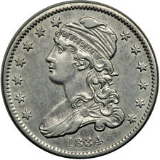 1834 25C XF45 PCGS-ONLY 271 IN HIGHER GRADES-LOOKS AU-CAPPED BUST QUARTER