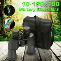 10-180X 100 Zoom PRISMATICOS BINOCULARES VISION NOCTURNA MILITAR CAZA AIRE LIBRE