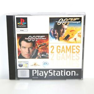 007 THE WORLD IS NOT ENOUGH & TOMORROW NEVER DIES - SONY PS1 GAME - COLLECTIBLE