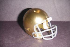 NOTRE DAME Mini pocket pro football helmet. Custom Made GOLD