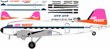 Airwest Douglas DC-3 C-47 airliner decals for Minicraft 1/144 kits