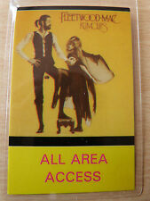 FLEETWOOD MAC Laminated ALL AREA ACCESS Backstage Tour Pass - RUMOURS