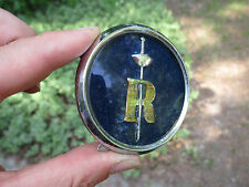 "Sunbeam Rapier Horn Button Blue-Gold-Chrome 2 1/2"" emblem ornament badge"