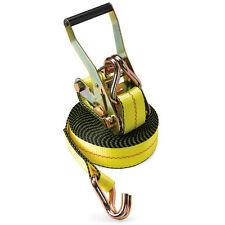 "2"" x 30' Ratchet Tie Down Strap J WH Wire Hook f Flatbed Truck Trailer Tie Down"