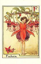 Flower Faires Postcard Cicley Mary Barker The Fuchsia Fairy Lot1