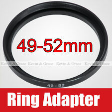 49mm to 52mm Male to Female Lens Step-Up Ring Adapter Filter CPL ND Star MC-UV