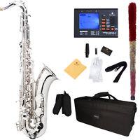 Mendini Bb Tenor Saxophone Sax ~Nickel Plated +Tuner+Case+Carekit ~MTS-N