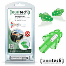 AURITECH SHOOT Shooting Hunting Clay Shot EARPLUGS Ceramic Filter - FREE UK P&P