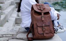 Men's Vintage Very Classy Leather Laptop Backpack Rucksack Messenger Bag Satchel