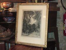Très beau Dessin au fusain, de l'artiste Henry Déziré 1878-1965, début XX eme