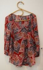 Sussan Red Pattern Top    ~Size 14~