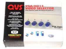 QVS CA298-4P VGA/HD15 4-Port Manual Video Switcher- Gray