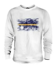 NAURU DISTRESSED FLAG UNISEX SWEATER TOP NAOERO FOOTBALL NAURUAN GIFT SHIRT