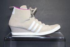 Adidas Round It Wedge Suede '12 Sneaker Boot Women 10 Multi Beige Purple Ath Hip