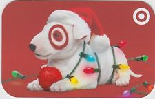 Target Bullseye the Dog Santa Hat Christmas Lights 2016 Gift Card 790-01-2300