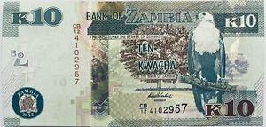 2012 ZAMBIA/NORTHERN RHODESIA 10 KWACHA EAGLE/PORCUPINE & FARM ZAMBIAN BANKNOTE
