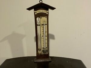 Weather station barometer  late Victorian