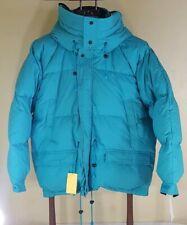 XL Goose Down Puffer Jacket Parka Winter Coat Teal Mens XL Reversable into Black
