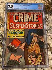 CRIME SUSPENSTORIES #22 CGC 3.5 CLASSIC DECAPITATION COVER RARE GRAIL HORROR EC