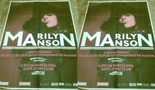 Marilyn Manson rare poster concert The High End Low Tour no CD DVD Arma.. Geddon