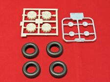 Model Truck Parts Moebius 66 Ford F-100 Pick Up Tires and Wheels 1/25