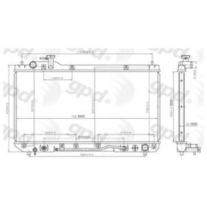 Omega Environmental Technologies 24-80775 Radiator for 98-00 Toyota RAV4