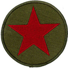 "RED STAR EMBROIDERED PATCH  7CM Dia (2-3/4"" Dia)"