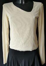 ***ROSE & THIN T-shirt MAGLIA TG.L in  Doppio Tulle elasticizzato colore beige