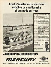 Publicité 1969  MERCURY moteur hors bord bateau