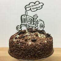 Tractor Happy Birthday Cake Topper Personalised Farmer Decoration Dad Grandad