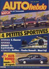 AUTO HEBDO n°494 24/10/1985 ALFA 75 2.0 205 XT