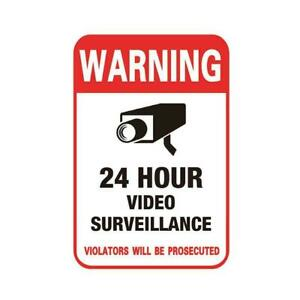 Surveillance Security Camera Video Sticker Warning Decal Low Stickers Sign M3J2
