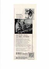 VINTAGE OLD HUMBER BRITISH LIGHTWEIGHT BICYCLES HIGH WHEELER ARISTOCRAT AD PRINT
