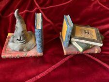 Harry Potter Bookends 2000 Enesco Sorting Hat Hogwarts School books