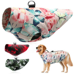 Winter Dog Coat for Large Dogs Warm Pitbull Down Jacket Cotton Padded Waterproof