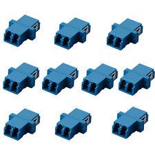 10x LC-LC Duplex Optical Fiber Optic Cable Coupler Adapter Coupling