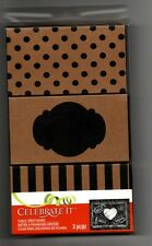 Chalkboard Paper Gift Boxes Black Natural Stripe Dots Small Jewelry Set of 3 New
