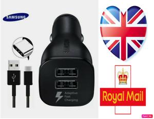 Genuine Samsung Dual Port Adaptive Fast Car Charger (EP-LN920) - Black UK STOCK