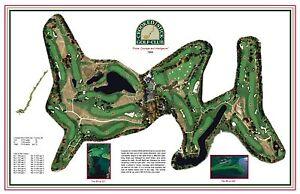 Crooked Stick Golf Club 1964-  Pete Dye - a VintageGolf CourseMap print