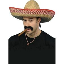 Unisex Straw Sombrero Hat Fancy Dress Mexican Spanish Western Cowboy Extra Large