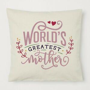Mothers Day Pillow Birthday Auntie Nanny Grandma Nanna Her Gift Mummy World Best