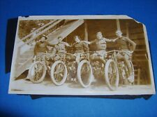 1913 INDIAN HENDEE MOTORCYCLE MOTORDROME RACING PHOTO WOMEN DAREDEVIL SILODROME