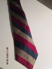 Men's Gant Neck Tie pre-owned 100% Silk  Red, Blue, Copper Stripe