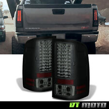 Black Smoked 2007-13 Gmc Sierra Philips Lumileds Led Tail Lights Lamp Left+Right