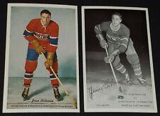 1950's - JEAN BELIVEAU - MONTREAL CANADIENS - MOLSON'S PROMOTIONAL POSTCARDS (2)