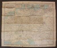 Original Eisenbahn-Übersichtskarte von Deutschland um 1900 Geographie sf