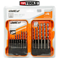 WellCut WC-MDB15 3-10mm MASONRY Drill Bit Set with 15 Pieces